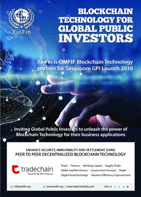 Blockchain Platform XinFin.io partners with OMFIF for Global Public Investors 2018 Launch