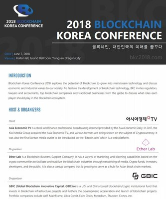 Core to 4th Industrial Revolution, All Blockchains in One Place! 2018 BKC Blockchain Korea Conference