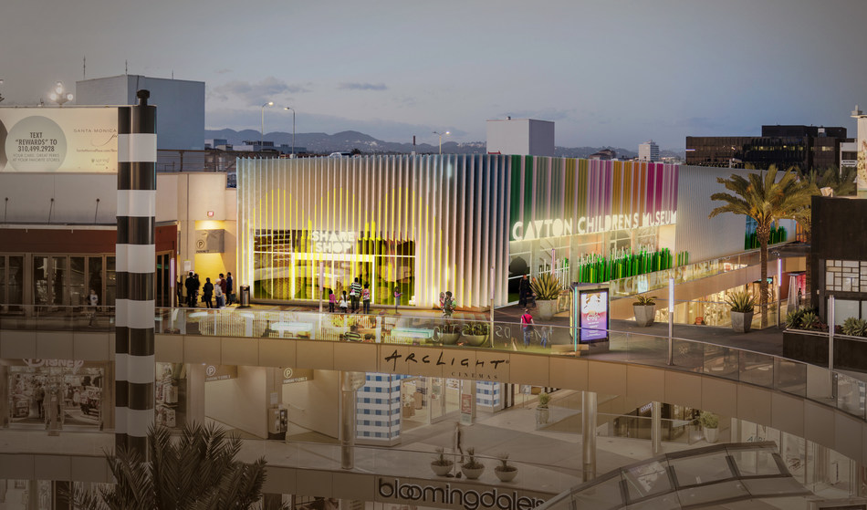 Rendering of the new Cayton Children's Museum at Santa Monica Place, designed by R&A Architecture + Design.