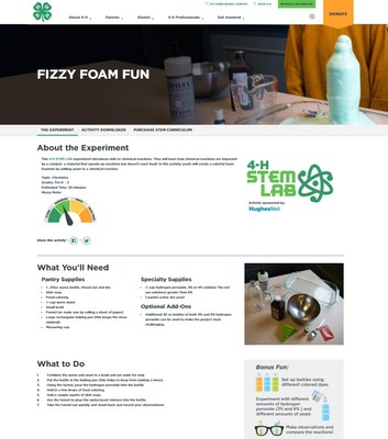 STEM Lab, a new resource from HughesNet and National 4-H Council, features engaging projects in chemistry, engineering and more. Parents and teachers can find easy-to-follow instructions, explanations of the foundational concepts at work, discussion questions and supply lists on the free website.