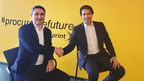 Sprint's VP of Supply Chain, Cyril Pourrat (left) and Scopeworker Founder, Sean Yazbeck (right) at Sprint Headquarters in Overland Park, Kansas, USA