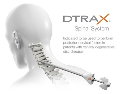 DTRAX Spinal System is a set of instruments indicated to be used to perform posterior cervical fusion in patients with cervical degenerative disc disease. The diameter of the largest instrument is less than 1cm.