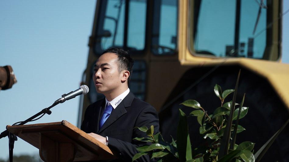 Risen Energy Australia project development and investment director John Zhong (PRNewsfoto/Risen Energy Co., Ltd)