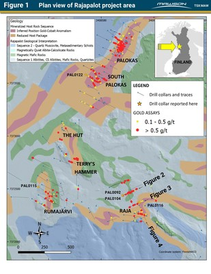 Figure 1 Plan view of Rajapalot project area (CNW Group/Mawson Resources Ltd.)
