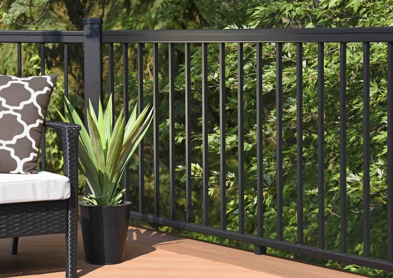 AZEK® Building Products' new Impression Rail™ Express features. sleek, contemporary style. With the beauty and looks of wrought iron without the cost or complicated installation, the pre-assembled aluminum railing panel system is engineered for quick installation at the job-site and lasting safety for the home owners.