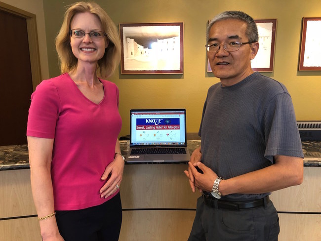 Knoze Jr. is getting ready to present its message at national stages. Cliff Han, the owner of the company, is being coached by Cindy Delgado from Dale Carnegie of New Mexico.