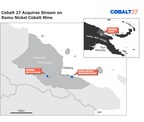 Cobalt 27 Acquires a Cash Flowing Cobalt-Nickel Stream on Producing Ramu Nickel-Cobalt Mine for US$113 Million (C$145 Million). This regional map shows the location of the Ramu mine. (CNW Group/Cobalt 27 Capital Corp)