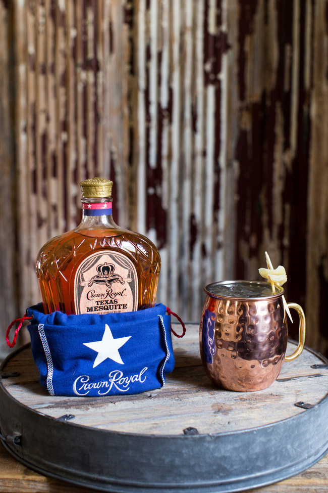 The Texas Mesquite Mule features a unique twist on the classic cocktail offering a sweet and smoky taste.