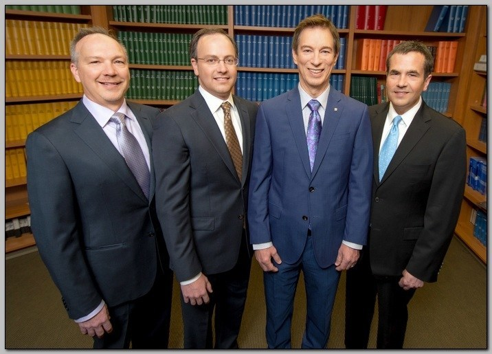 L to R: Michael Nordlund, M.D., Ph.D., vice chairman of the board at CEI; Daniel Miller M.D., Ph.D., chief medical officer at CEI; Clyde Bell, chief executive officer of CEIVP; Robert Foster, M.D., chairman of the board at CEI.