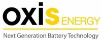 OXIS Energy Logo (PRNewsfoto/OXIS Energy Ltd)