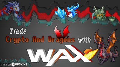 Blockchain Game Crypto and Dragons Partners with WAX and OPSkins Marketplace