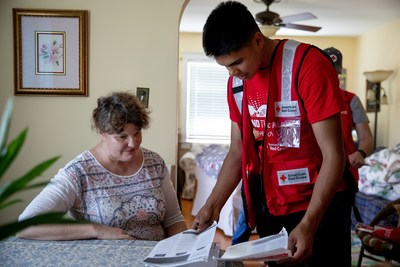 Smoke alarm installations at the Sound the Alarm event in Wilmington, North Carolina. Photo by Adam Jennings/American Red Cross