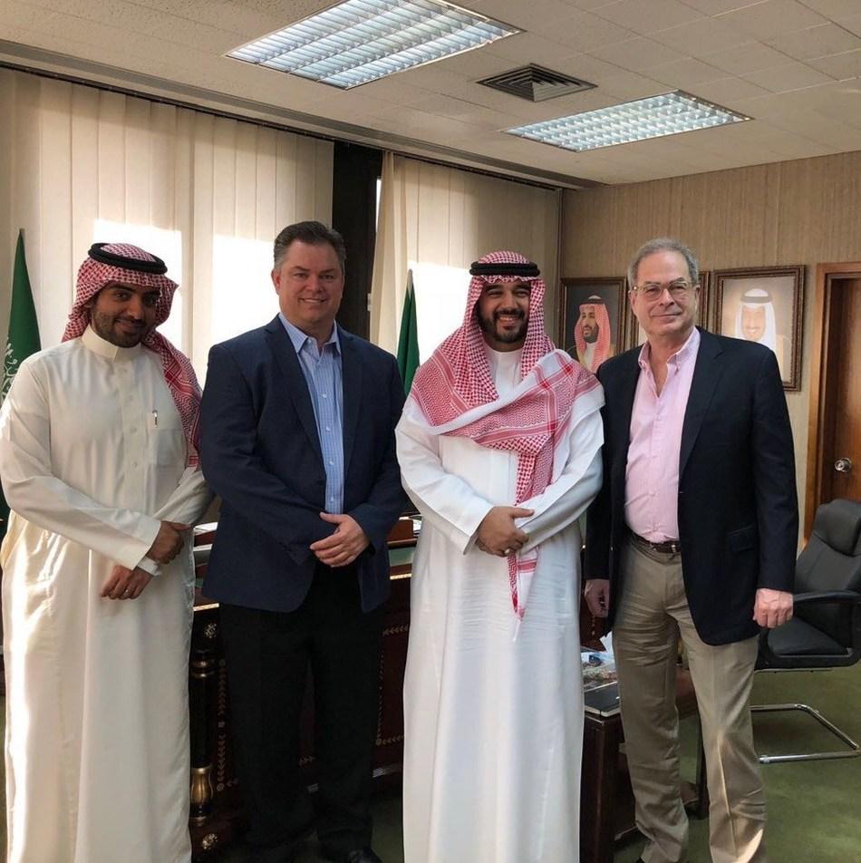 (From left to right) Turki Al Fozan, CEO AEF; Tom Smith, Managing Partner GER; HRH Prince Faisal bin Bandar bin Sultan Al Saud, President AEF; along with Jim Walsh, Partner GER