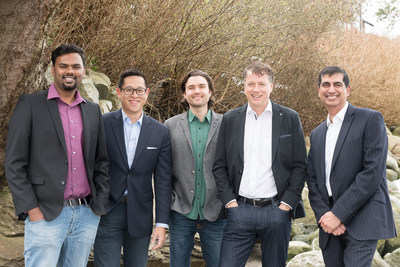 The BlissCo Management Team (left to right) Vipin Vikraman (QAP Manager), Sean Ty (Controller), Shawn McDougall (Production Manager), Damian Kettlewell (CEO), Rob Kang (CFO) (CNW Group/BlissCo Cannabis Corp.)