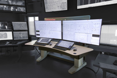 The control room at Riikinvoima Oy featuring Honeywell's Experion® Orion Console.