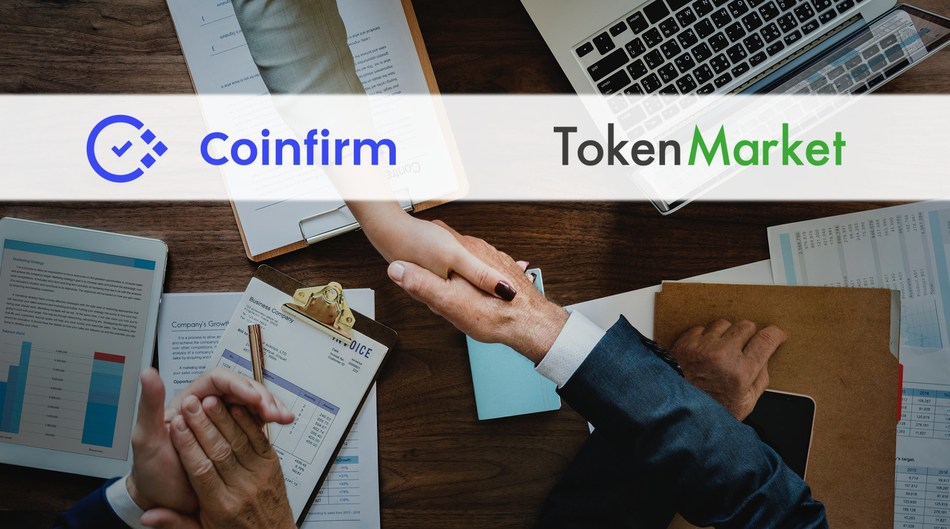 TokenMarket Joins AMLT Network by Coinfirm (PRNewsfoto/TokenMarket)