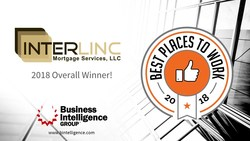 INterlinc Mortgage Services of Houston, Texas is the overall winner of the 2018 Best Places to Work Award presented by Business Intelligence Group.