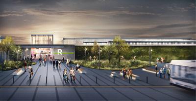 Rendus architecturaux des futures stations du Réseau express métropolitain (Groupe CNW/Réseau express métropolitain - REM)
