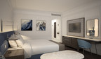 Wyndham's new prototype room, pictured above, incorporates calming design elements to promote comfort, enhanced by scientific applications from Delos to influence wellness and encourage natural sleep rhythms.