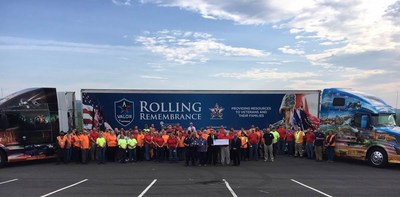 PepsiCo associates and other event attendees celebrate the Wytheville, Virginia stop of the 2018 PepsiCo Rolling Remembrance Relay