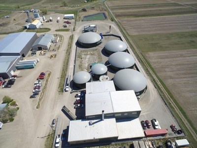 Lethbridge Biogas Plant (2.8 Megawatt Green Energy Producer) (CNW Group/Biosphere Technologies Inc.)