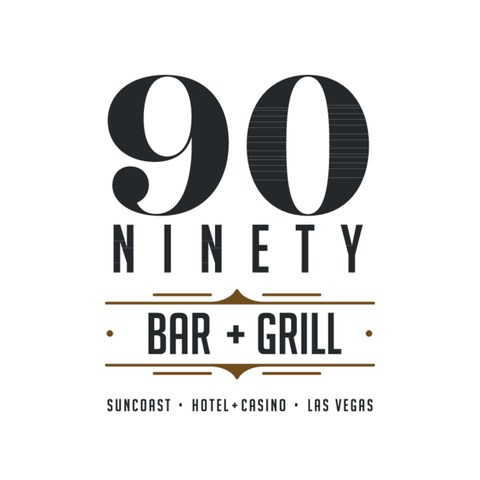 Logo for 90 NINETY Bar + Grill at Suncoast.