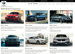 """Pacific BMW's """"BMW Model Comparisons"""" page enables luxury car shoppers to make well-informed car buying decisions by showing how BMW models measure up against similar vehicles from competitor brands."""