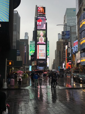 The promo video of the city Changchun is shown at NYC Times Square (PRNewsfoto/Xinhua Screen Media Co., Ltd.)