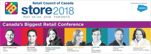 Retail's top leaders speak at STORE 2018 (CNW Group/Retail Council of Canada)