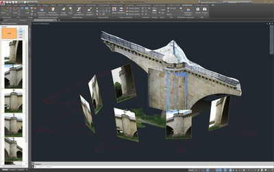 Unwrapping a modeled surface based on orientated images in As-Built™ for AutoCAD® Software