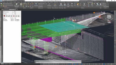 Modeling and dimensioning of a bridge in As-Built™ for AutoCAD®    Software