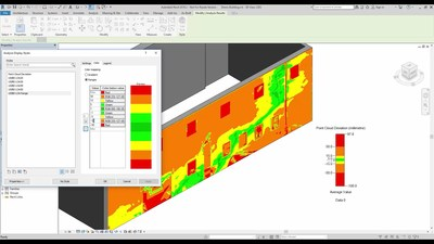 Surface  Analysis  according  to  USIBD  Level  of  Accuracy  ranges  in  As-Built™  for  Autodesk®  Revit®