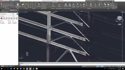 Fitted  beam  solids  with  the  point  cloud  in  As-Built™  for  AutoCAD®  Software