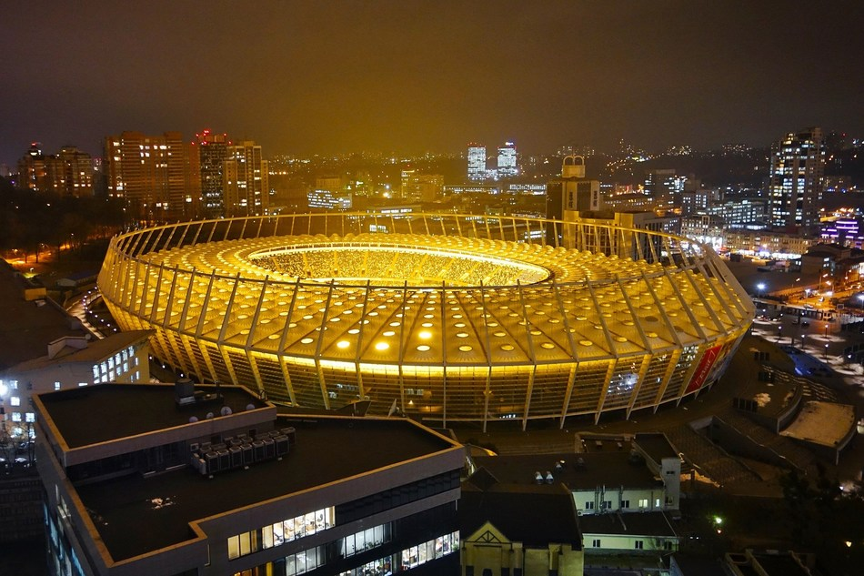 Kiev's Olympic Stadium will host the Champions League Final this Saturday