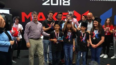 2018 MakeX Turkey Middle School Winner Team: Kodla Ardahan