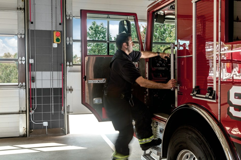 LiftMaster firehouse automated door solutions and safety accessories prevent accidents and reduce 'turnout time' by allowing firefighters and their equipment to leave the station safely and quickly when an emergency call comes in.