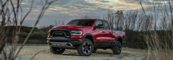 The 2019 Ram 1500 Rebel is a model optimized for off-road driving.