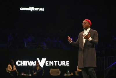 will.i.am attends the Chivas Venture, Chivas Regal's global competition that gives away $1 million in no-strings funding every year to the world's most promising social startups on May 24, 2018 at TNW Conference in Amsterdam, Netherlands (PRNewsfoto/Chivas Venture)