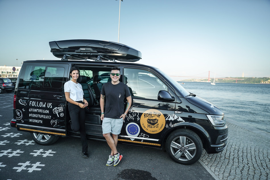 Yldau de Boer, 24 from Amsterdam (Netherlands) and Fabian Sanchez, 25 from Vilnius (Lithuania) are looking forward to the journey via Spain, France and Belgium. (PRNewsfoto/Volkswagen Commercial Vehicles)
