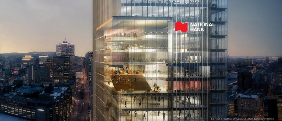 Menkès Shooner Dagenais LeTourneux Architectes to Design National Bank's New Head Office (CNW Group/National Bank of Canada)