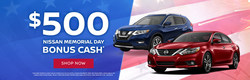 Drivers looking to save big this Memorial Day on a new Nissan may be able to get $500 Holiday Bonus Cash at Krenzen in Duluth.