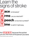 Learn the signs of stroke (CNW Group/Heart and Stroke Foundation)