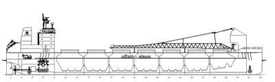 Spécifications du navire (Groupe CNW/Le Groupe CSL Inc.)