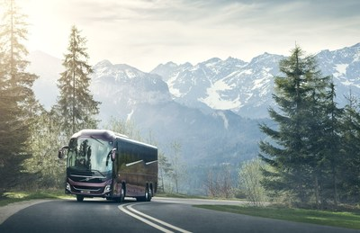 Design, safety and comfort are in focus when Volvo launches a new platform for long-distance buses. (PRNewsfoto/Volvo Bus Corporation)