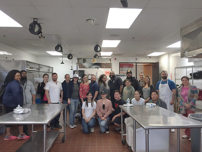 Injured veterans and their guests learned how to create exquisite cuisine from culinary professionals at the Art Institute of California in San Diego during a class with Wounded Warrior Project®.