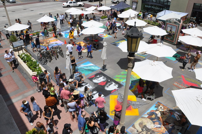 The 26th annual Pasadena Chalk Festival will be held Father's Day weekend, June 16-17, 2018, at The Paseo in Pasadena, Calif.