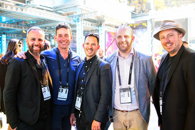 From left to right: Vincent Leclerc, Co-founder and CTO of PixMob; Chris Elmitt, Managing Director at Crystal Interactive; Jean-Olivier Dalphond, Partner at PixMob; Rob Curtis, Head of Innovation at Crystal Interactive; and David Parent, Co-founder and CEO of PixMob