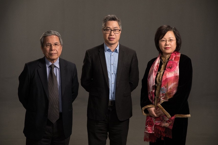 Ifoods chain chief scientist Dr. Lin Ruji, founder Kallon, chief hardware scientist Professor Feng Lishuang (from left to right).