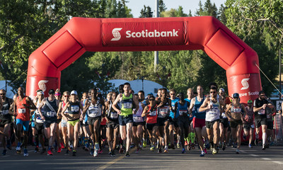 The starting line at the 54th annual Scotiabank Calgary Marathon. (CNW Group/Scotiabank)