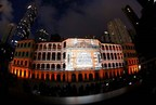 The handsome Barrack Block dazzles at the heart of the revitalised Central Police Station compound during the Tai Kwun opening ceremony light show.